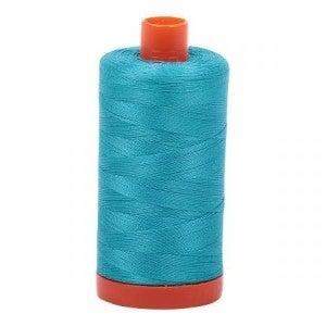 Aurifil Thread 50wt Cotton 1422 yard, Turquoise