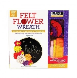 Mini Maker Felt Flower Wreath Kit