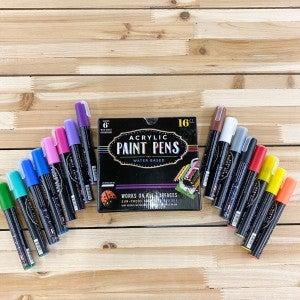 Acrylic Paint Pen Set, 16 Piece Set, 5mm Tip