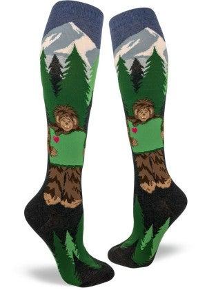Sasquatch Loves Oregon Knee Socks