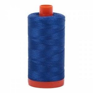Aurifil Thread 50wt Cotton 1422 yard, Medium Blue