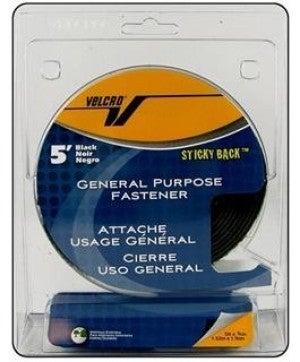 """Stickyback Velcro Tape Roll, Black, 3/4"""" x 5'"""