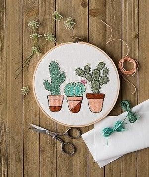 Mini Maker Cactus Garden Embroidery Project