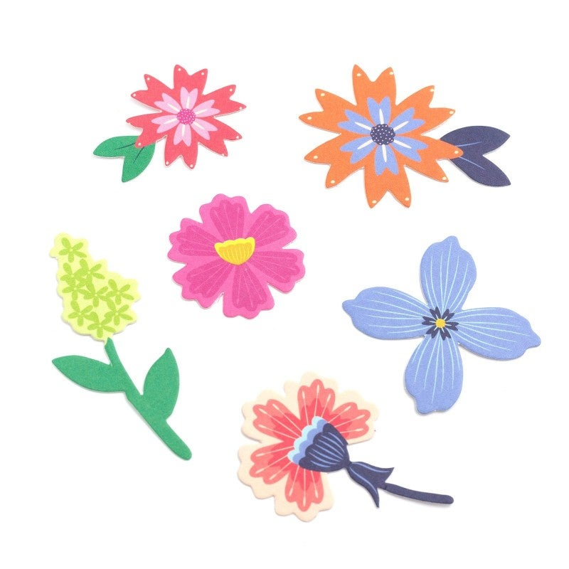 Horizon Mixed Floral Die Cuts - 50 ct