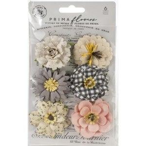 Prima Mulberry Paper Flowers -6 pcs