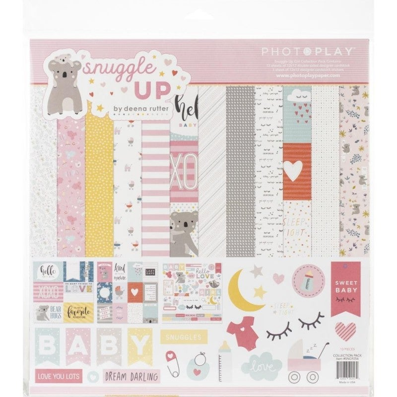 Snuggle Up Girl Paper Pack