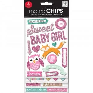 Sweet Girl Chipboard Stickers