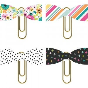 Oh Happy Day Decoration Clips - 4 pcs