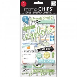 Vacation Chipboard Stickers
