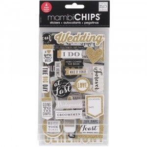 Wedding Chipboard Stickers
