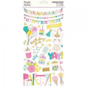 Magical Birthday Chipboard Stickers