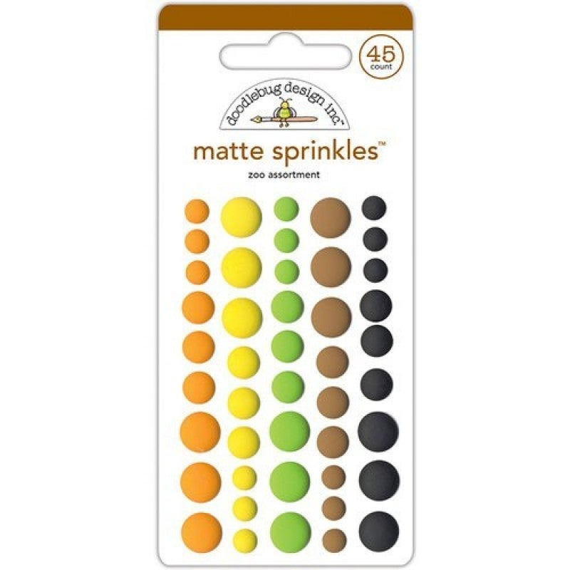 Matte Sprinkles Enamel Dots Zoo Assortment