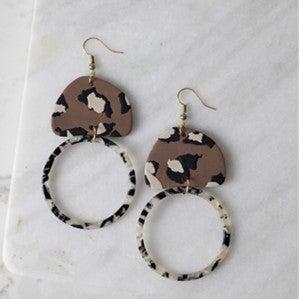 Lane Leopard Earrings
