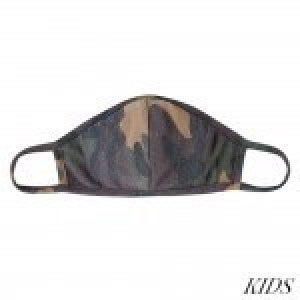 KIDS Reusable Camouflage T-Shirt Cloth Face Mask