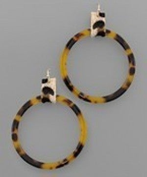 Leopard and Ring Earrings