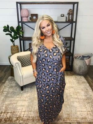 Be Somebody Leopard Maxi Dress