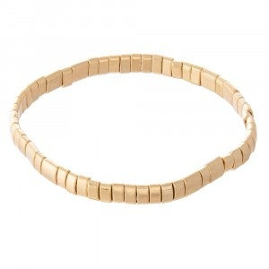 Miyuki Tila Bead Stretch Bracelet