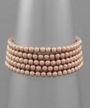 5 Row 5MM Ball Bead Bracelet Set