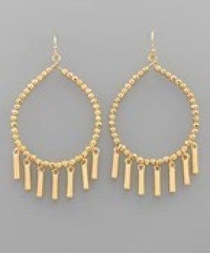 T-Drop Bead & Bar Earrings