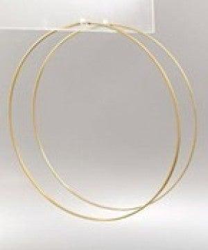 Oversized Wire Hoops