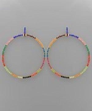 Paved Circle Earrings
