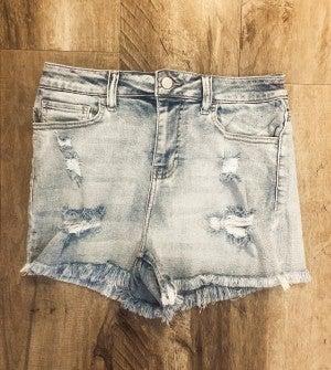 Delilah Denim Shorts - Light Wash