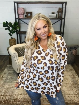 Play Nice Leopard Top