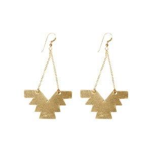 love, poppy aztec chain earrings