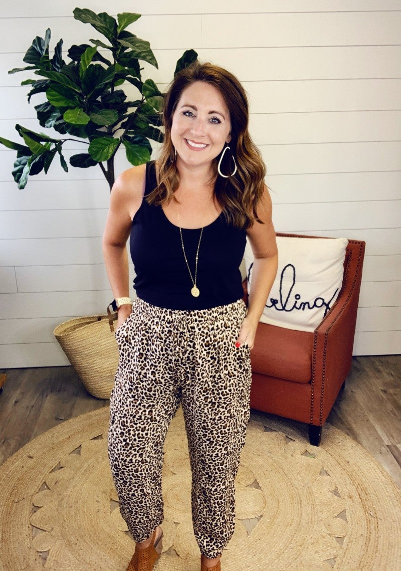 Logan Leopard Pants