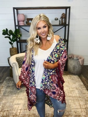 Boho Queen Kimono