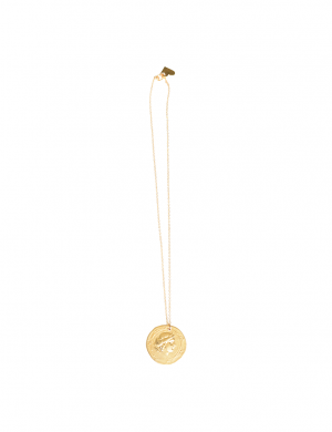 Love, Poppy Detailed Short Necklace - Coin