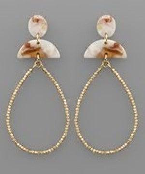 Wedge Acrylic & Teardrop Earrings