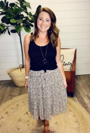 Laurel Leopard Skirt