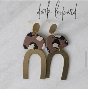 Emily Earrings - Leopard