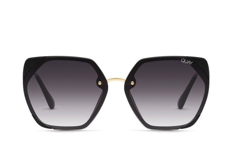 Quay VIP Sunglasses - Black / Smoke Lens