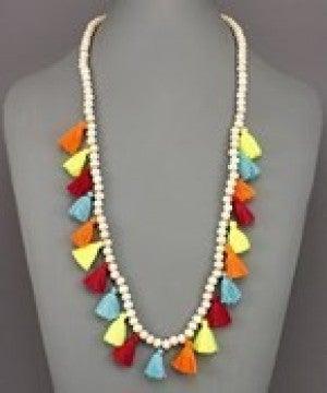 Bead & Tassel Necklace