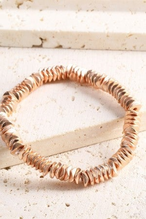 All The Feels Textured Metal Bracelet