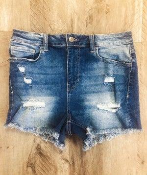Delilah Denim Shorts - Medium Wash