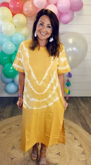 Good Vibes Dress - Mustard