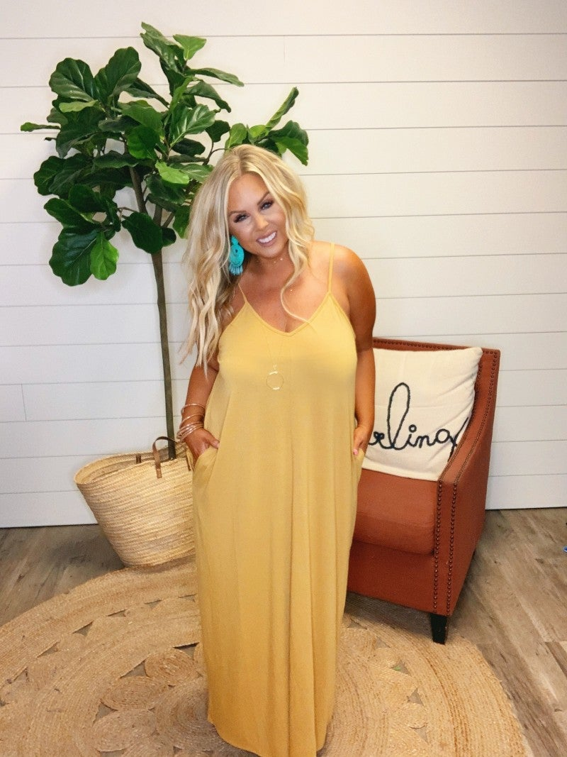 Layla Maxi Dress - Light Mustard