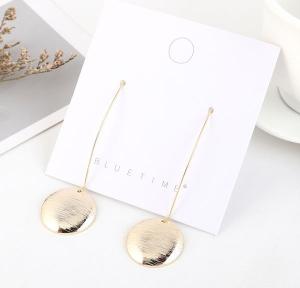 Elegant Disc Earrings