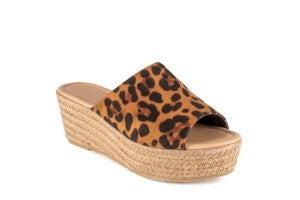 Melrose Leopard Wedge