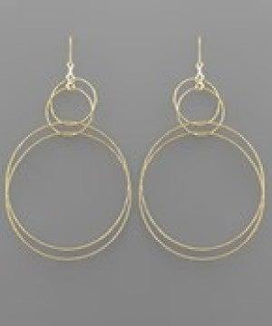 Multi Circle Linked Earrings