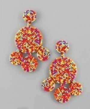 Multi Bead Disc Earrings