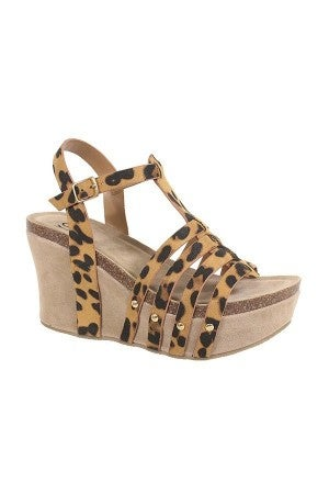 Lady's Night Leopard Wedge