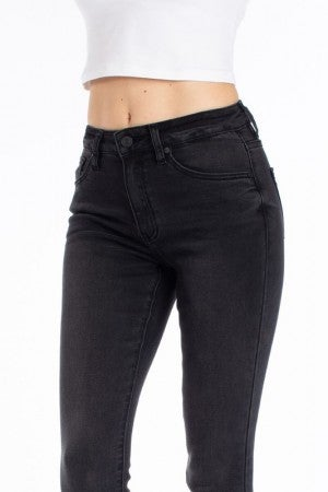 Kancan Dark Gray High Rise Skinny Jeans