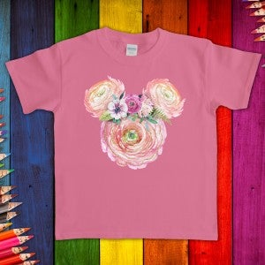 Youth Flower Garden Mickey Graphic Tee