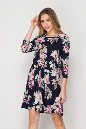 HoneyMe Sultry Floral Baby Doll Dress