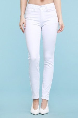 Judy Blue White Midrise Skinny Jeans