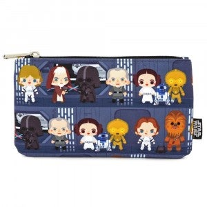 Loungefly Star Wars Chibi Battle Station Line Up Nylon Pouch